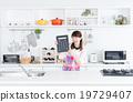 主婦 家庭主婦 廚房 19729407