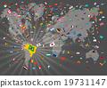 การแข่งขันกีฬาโอลิมปิกที่เมืองริโอ _ แผนที่โลกและธงลูกกวาด _ เสียงเดียว 19731147