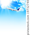 Airplane jet machine Sky background 19732740