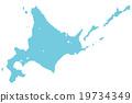 홋카이도지도 도트 블루 19734349