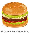 汉堡 速食 食物 19743357