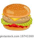 汉堡 速食 食物 19743360
