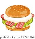 汉堡 速食 食物 19743364