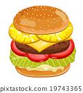 Burger on white background. 19743365