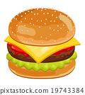 汉堡 速食 食物 19743384