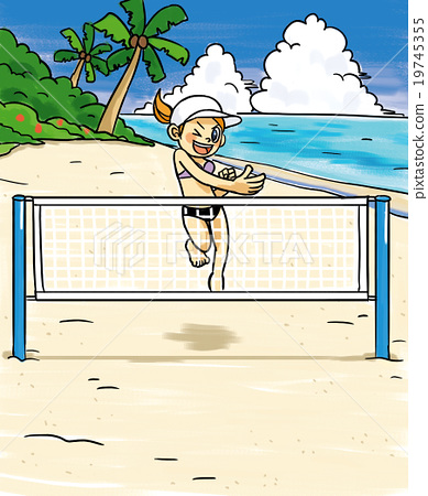 beach volleyball, net, nets 19745355