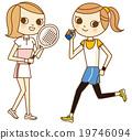 運動 矢量 女性 19746094