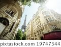 building in Paris near Eiffel Tower 19747344