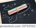 彩色铅笔 宇宙飞船 照片 19750562