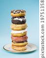 卡路里 甜甜圈 食物 19751358