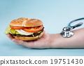 快餐 聽診器 漢堡 19751430