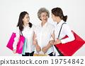 祖母 購物袋 微笑 19754842