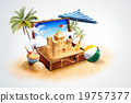 海灘 太陽傘 陽傘 19757377