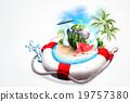海灘 旅行 夏 19757380