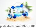 陽傘 海灘 夏 19757381