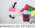 購物 購物袋 購物車 19758016