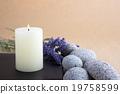 蠟燭 石頭 鵝卵石 19758599