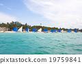 遊艇 樹 海灘 19759841