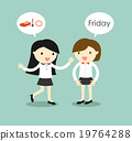 Business women planning to shopping on Friday. 19764288