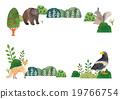 메시지카드, 엽서 템플릿, 동물 19766754