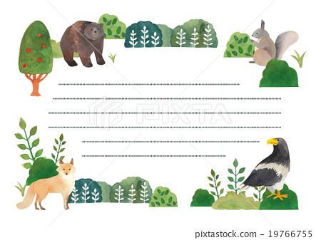 편지지 홋카이도 동물 시리즈 옆 19766755