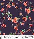 Watercolor vector sakura pattern 19769276