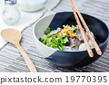 Asian style beef noodles in soup 19770395