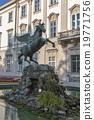 Pegasus sculpture in Mirabell Gardens, Salzburg.  19771756