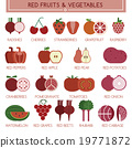 Red fruits and vegetables 19771872