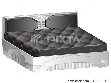 modern bed 19772516