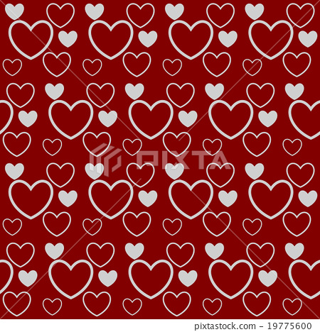 Seamless Background Valentines Day Card Fabric Stock Illustration
