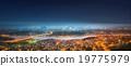 Panorama of Istanbul and Bosphorus bridge at night 19775979