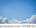 white cloud on blue sky background  19788582