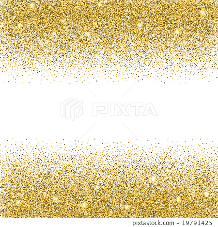 Gold glitter background. - Stock Illustration [19791425] - PIXTA