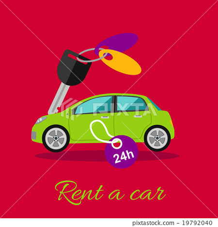 Stock Illustration: Rent a Car