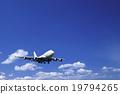 飞机 客用飞机 蓝蓝的天空 19794265