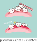 cartoon tooth brush and gingivitis 19796929