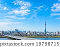 天空樹和東京的街道 19798715