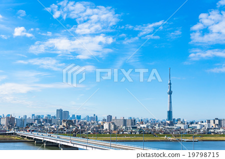 Sky Tree and the streets of Tokyo 19798715
