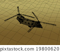 3d Wire Frame  of Helicopter 19800620