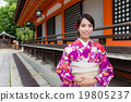 Japanese Woman with traditional Japanese costume 19805237
