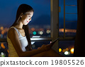 Woman use of the tablet pc 19805526