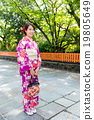 Woman with beautiful japanese costume in Gion Kyoto 19805649