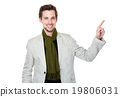 Caucasian man with finger point up 19806031