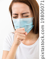 Woman cough with mask 19806071
