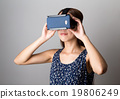 Woman using the VR device 19806249