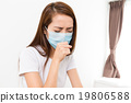 Woman feeling unwell at home 19806588