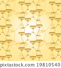 Gold flowers pattern seamless 19810540