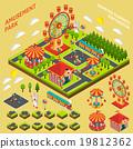 Amusement Park Isometric Map Creator Composition  19812362