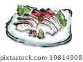 生魚片 刺身 日本料理 19814908